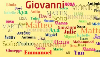 Os 48 nomes mais bonitos do mundo
