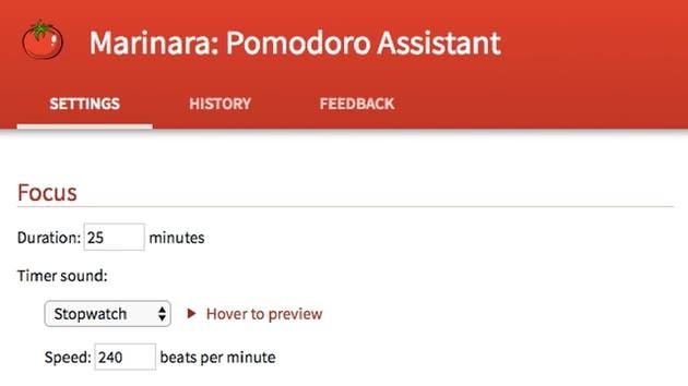 Marinara: Assistente Pomodoro